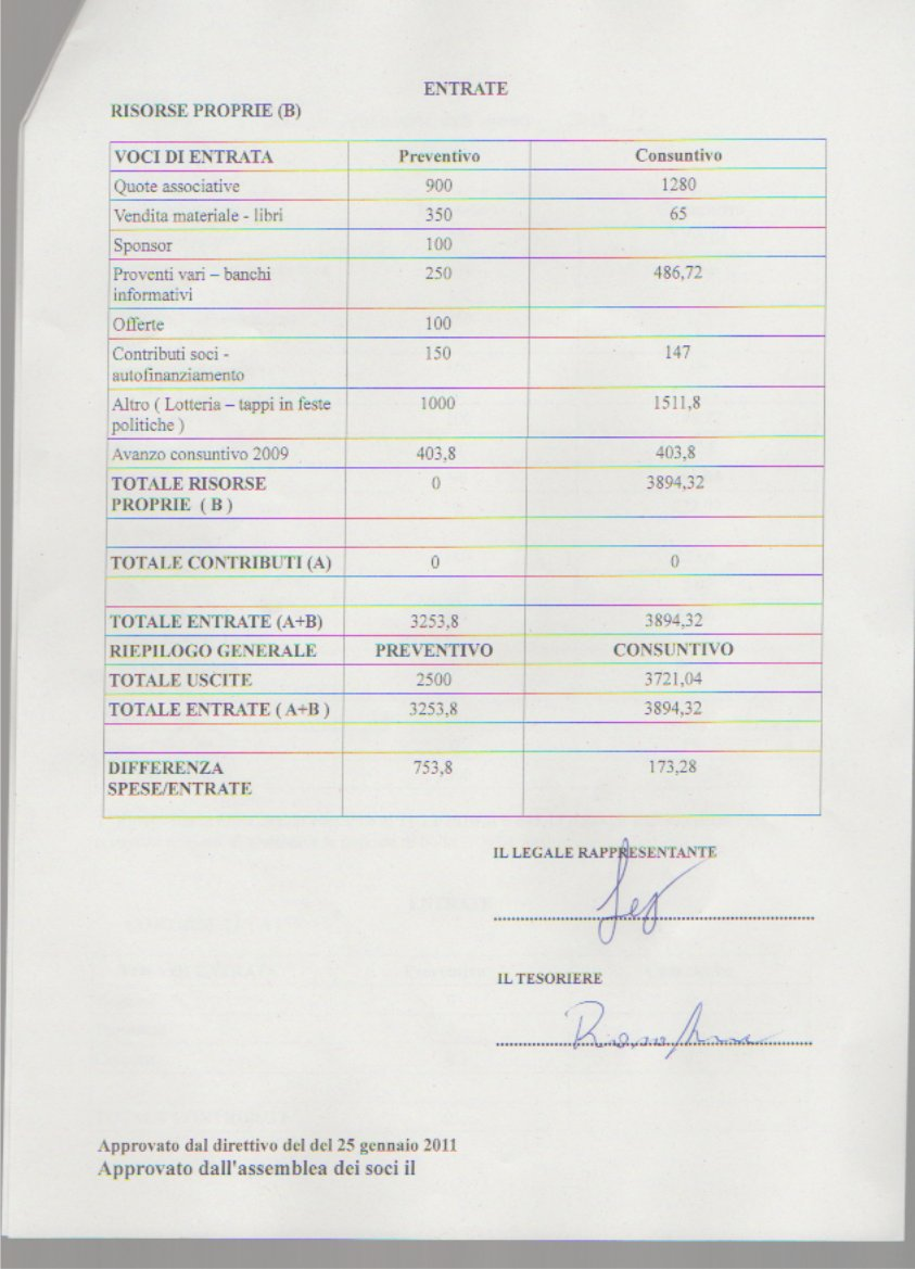 Bilancio 2010-2 firmato