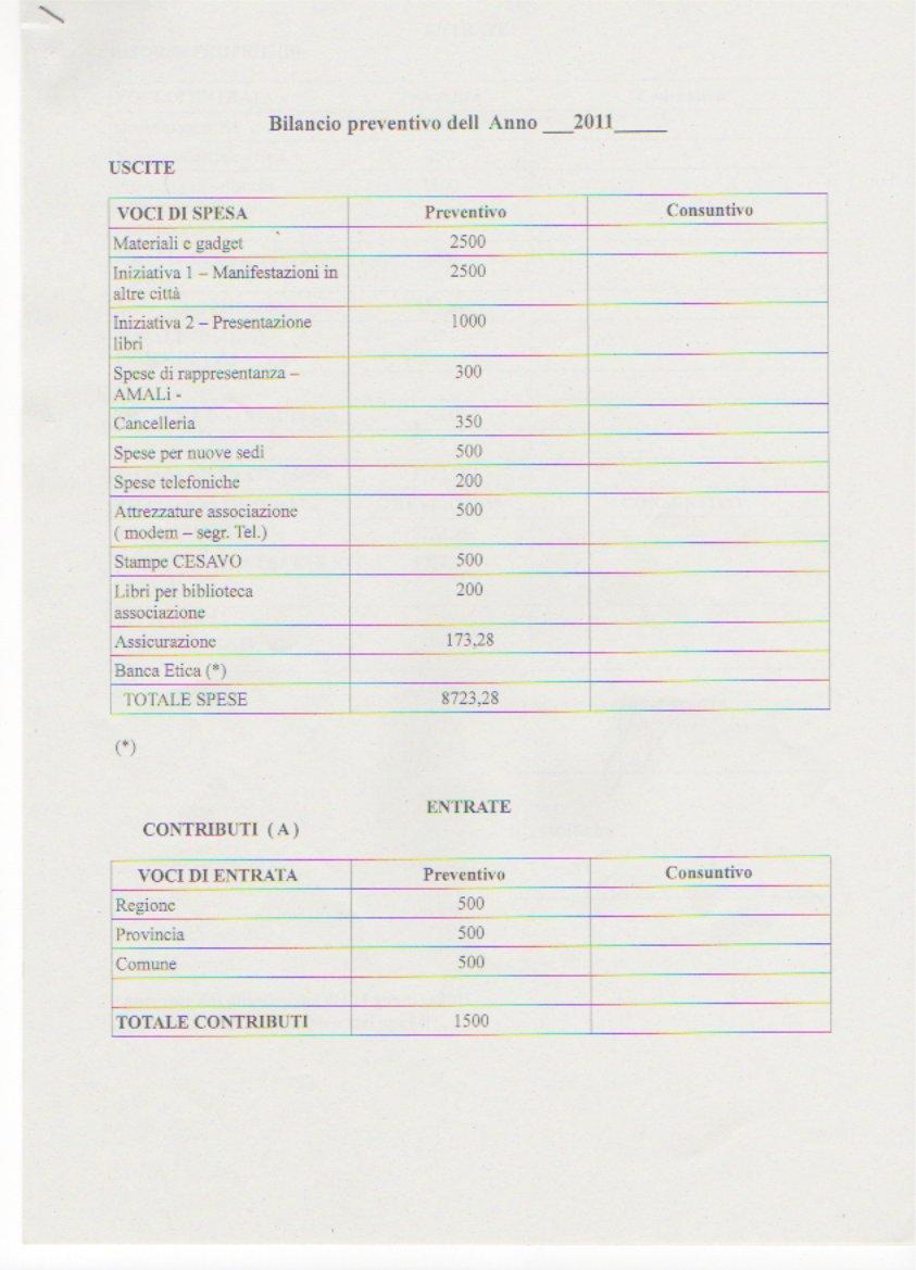 Bilancio preventivo 2011-1
