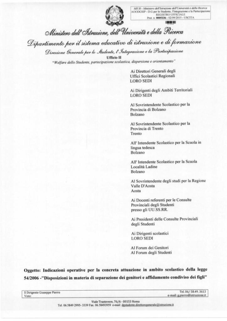 INDICAZIONI OPERATIVE LEGGE 54.2006 GENITORI DEI FIGLI 5336-2.9.15 pg1